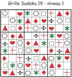 Imprimer le sudoku 19 pour les enfants de maternelle