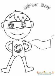 Coloriage d'un super boy