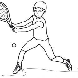 dessin de tennis