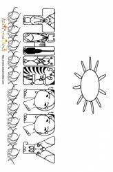Coloriage prénom Thierry - lettres animaux