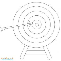 Cible de tir à l'arc