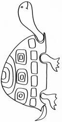 coloriage d'une tortue à motifs géométriques