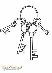 Coloriage d'un trousseau de clés