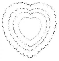Carte saint Valentin : les coeurs