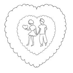 Carte saint valentin : motifs amoureux