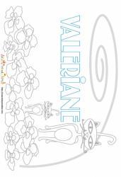 Coloriage prénom Valeriane - Chats et fleurs