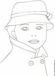 Visage de la femme au chapeau