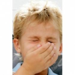 Enfant malade de la grippe
