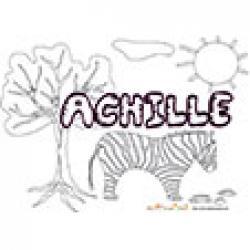 Achille, coloriages Achille