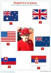 Élisabeth II et le drapeau