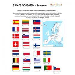 Espace Schengen : les drapeaux