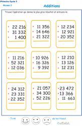 Imprimer les additions en colonne 3 chiffres  fiche 4