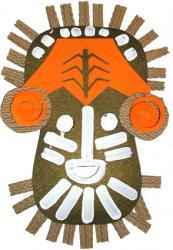 Explications pour fabriquer un masque masque africain primitif
