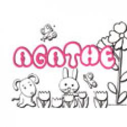Agathe, coloriages Agathe
