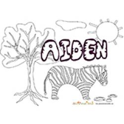 Aiden, coloriages Aiden