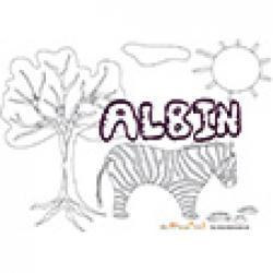 Albin, coloriage Albin