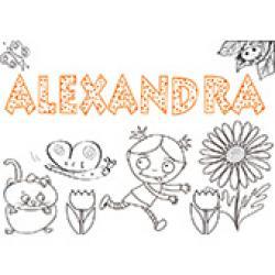 Alexandra, coloriages Alexandra