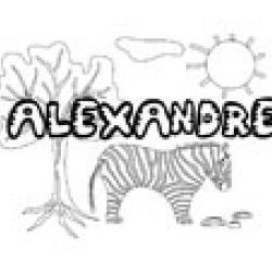 Alexandre, coloriages Alexandre