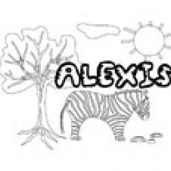 Alexis, coloriages Alexis