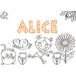 Alice, coloriage Alice