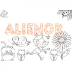 "Coloriage prénom ""ALIENOR"" avec le dessin de Nana"