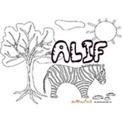 Alif, coloriages Alif