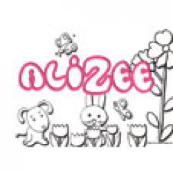 Alizée, coloriage du prénom Alizée