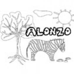 Alonzo, coloriages Alonzo