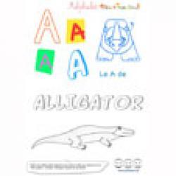 """Alphabet : lettre """"A"""" majuscule sur Tête à modeler à imprimer"""