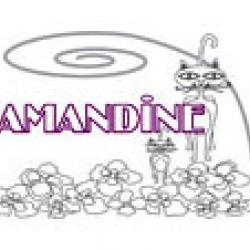 Amandine, coloriages Amandine