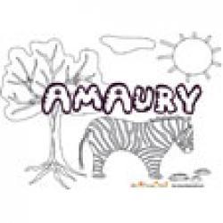 Amaury, coloriages Amaury