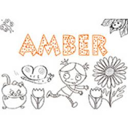 Amber, coloriages Amber
