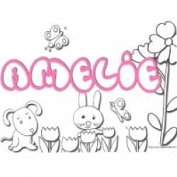 Activités sur le prénom Amélie