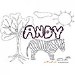 Andy, coloriages Andy