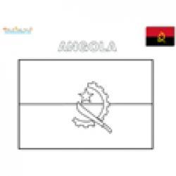 Coloriage drapeau Angola