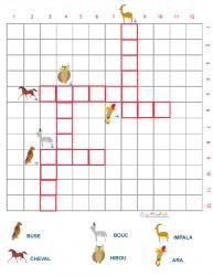 Grille de mots croisés sur les animaux grille 5
