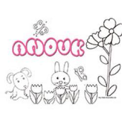 Anouk, coloriages Anouk