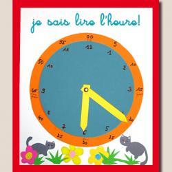 Pendule pour apprendre à lire l'heure