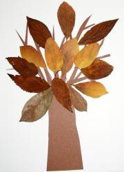 Fabriquer un arbre en feuilles d'automne pour l'éveil du jeune enfant