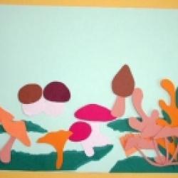 Tableau de champignons d'automne