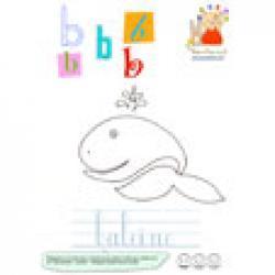 B de baleine de l'imagier des minuscules