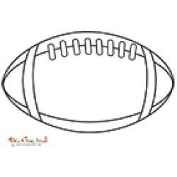 Ballon de rugby à colorier