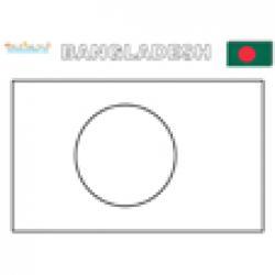 Coloriage drapeau Bangladesh