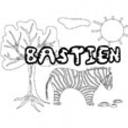 Bastien, coloriages Bastien