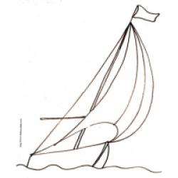 dessin d'un voilier