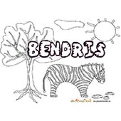 Bendris, coloriages Bendris