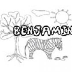 Benjamin, coloriages Benjamin