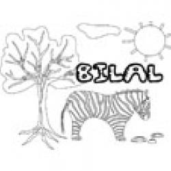 Bilal, coloriages Bilal