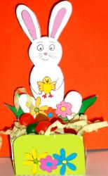 Petite corbeille de table lapin à imprimer et à plier
