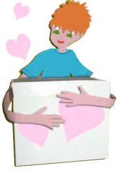 Boîte bisous boîte d'amour